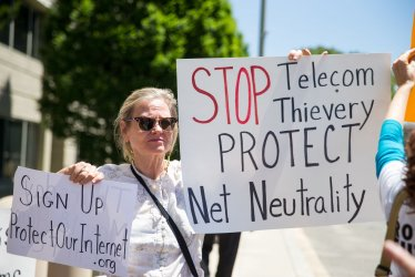 Net Neutrality Protest at FCC
