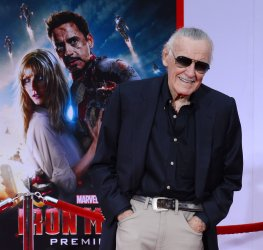 """Stan Lee attends the """"Iron Man 3"""" premiere in Los Angeles"""