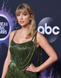Taylor Swift attends American Music Awards in LA