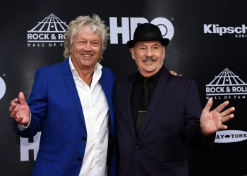John Lodge and Mike Pinder of Moody Blues at the 33rd  Rock and Roll Hall of Fame Induction