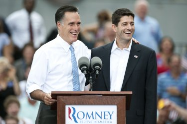 Republican candidate Mitt Romney announces Paul Ryan as running mate in Norfolk