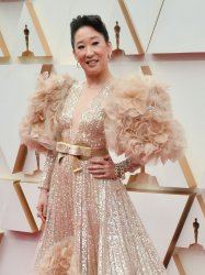 Sandra Oh arrives for the 92nd annual Academy Awards in Los Angeles