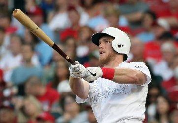 St. Louis Cardinals Harrison Bader hits two run home run