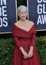 Helen Mirren attends the 77th Golden Globe Awards in Beverly Hills