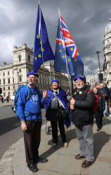 Brexit protests outside Parliament