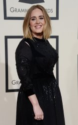 Adele arrives for the 58th annual Grammy Awards in Los Angeles