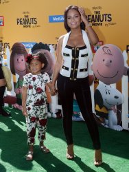 """Christina Milian and daughter attend """"The Peanuts Movie"""" premiere in Los Angeles"""