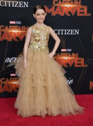 """Mckenna Grace attends the """"Captain Marvel"""" premiere in Los Angeles"""