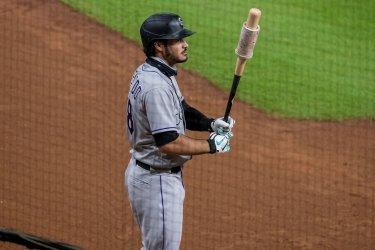 Rockies' Nolan Arenado Waits on Deck