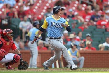 Tampa Bay Rays Logan Morrison hits solo home run