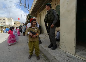 Settler Purim Parade Hebron, West Bank