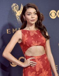 Sarah Hyland attends the 69th annual Primetime Emmy Awards in Los Angeles