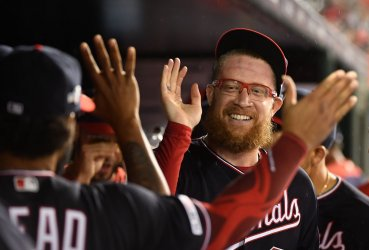 Nats' Sean Doolittle congratulated during NLDS Game 4