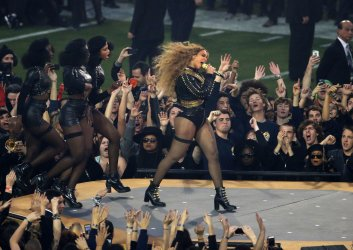Beyonce performs during the Super Bowl 50 halftime show