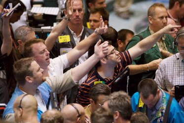 President Bush calls for more oil drilling as trading takes place at the NYMEX in New York