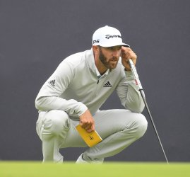 Dustin Johnson on the 2nd day of the Open Championship at Royal Portrush