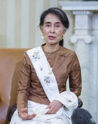 Obama Meets with Aung San Suu Kyi at White House