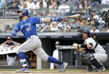 Toronto Blue Jays Kevin Pillar swings at a pitch