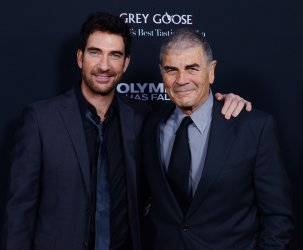 """Dylan McDermott and Robert Forster attend the """"Olympus Has Fallen"""" premiere in Los Angeles"""