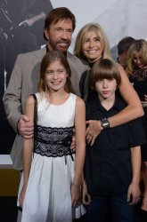 """Chuck Norris and Gena O'Kelly and their children attend """"The Expendables 2"""" premiere in Los Angeles"""