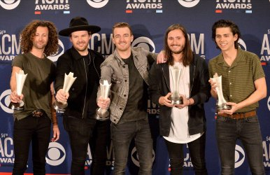 Lanco wins award at the Academy of Country Music Awards in Las Vegas