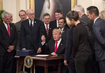 President Trump signs legislaiton to help combat the National Opiod Crisis at the White House
