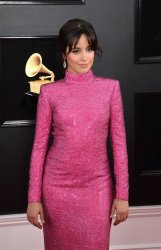Camila Cabello arrives for the 61st Grammy Awards in Los Angeles