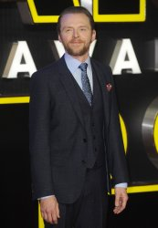"""Simon Pegg attends the European Premiere of """"Star Wars - The Force Awakens"""" in London"""