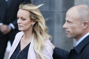 Adult-film star Stormy Daniels arrives in court in New York