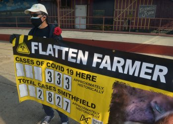 Activists Protest Workers Who Alleged Contracted COVID-19 at Slaughterhouse