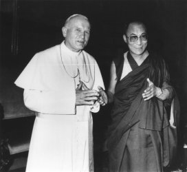 Pope John Paul II with the Dalai Lama