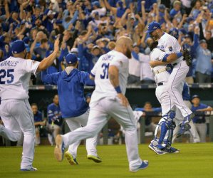 Royals Cain scores go ahead run in eighth inning