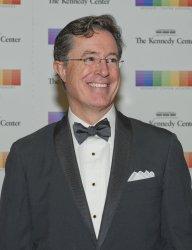 Stephen Colbert arrives for 2015 Kennedy Center Honors Formal Artist's Dinner