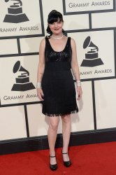 Pauley Perrette arrives for the 58th annual Grammy Awards in Los Angeles