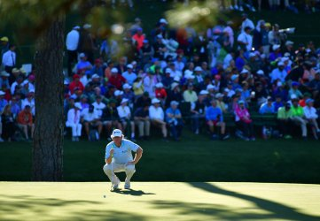 William McGirt during the third round at the Masters