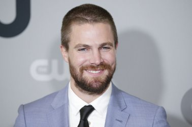 Stephen Amell at The CW network Upfront in New York