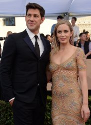 John Krasinski and Emily Blunt attend the 23rd annual SAG Awards in Los Angeles
