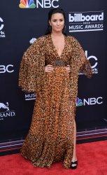 Demi Lovato arrives at the 2018 Billboard Music Awards in Las Vegas, Nevada