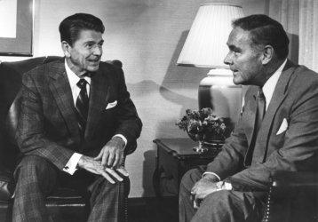 President Reagan Taks to Alexander Haig