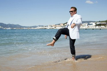 Arnold Schwarzenegger attends the Cannes Film Festival