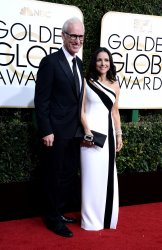 Brad Hall and Julia Louis-Dreyfus attend the 74th annual Golden Globe Awards in Beverly Hills
