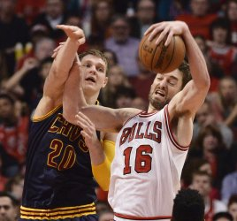 The Cleveland Cavaliers Play the Chicago Bulls in Game 6 of the Eastern Conference Semifinals of the NBA Playoffs in Chicago