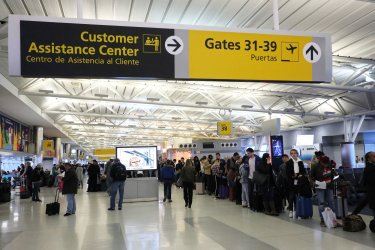 Nor'easter leaves stranded passengers at airports in New York