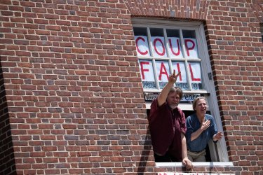 Protesters occupy the Venezuelan Embassy