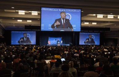 President Trump speaks at the National HBCU Week Conference