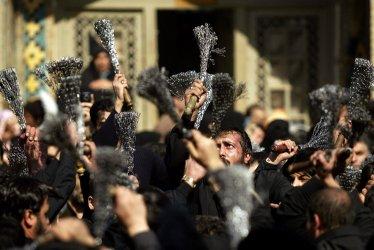 Iranians Shiite Muslim mourn to commemorate Arbaeen in Qazvin, Iran.