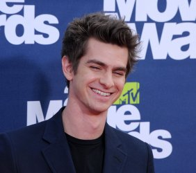 Andrew Garfield arrives at the MTV Movie Awards in Los Angeles