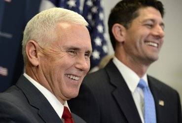Vice President-elect Pence visits Capitol Hill