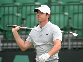 McIlroy Hits on the 16th at the US Open Golf Championship