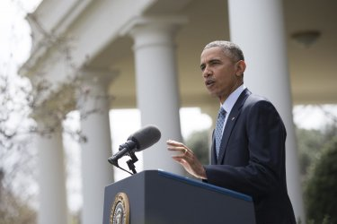 President Barack Obama Announces a Nuclear Deal with Iran in Washington, D.C.